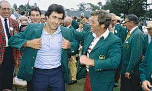 Seve Ballesteros Wearing Green jacket 1980