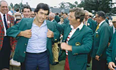 Seve Ballesteros Wearing Green jacket 1980