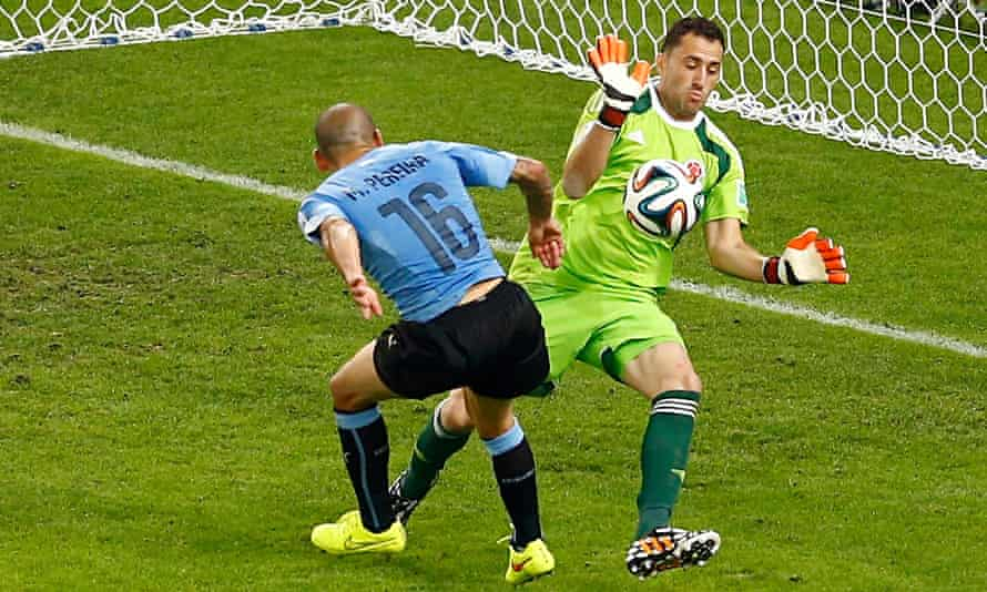 David Ospina played his part in goal as Colombia reached the World Cup quarter-finals in Brazil