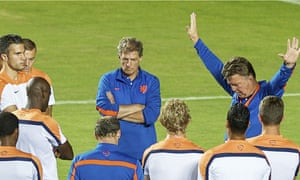 Holland's Louis van Gaal, right, is the last big beast of European club management left at World Cup