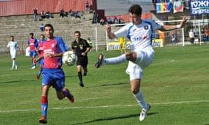 Levski Sofia's Bozhidar Kraev, right, has already had a spell training with Juventus