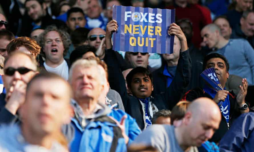 The message from a fan exemplifies Leicester City's fighting spirit in the match against Swansea