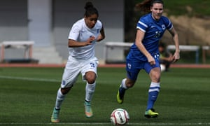 England's Demi Stokes, left, will take on China at her Manchester City club's academy