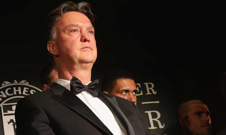 Louis van Gaal took to the microphone at Manchester United's awards evening