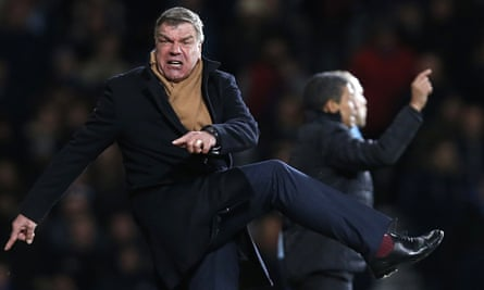 Sam Allardyce's style of play as West  Ham United's manager was not universally popular with fans