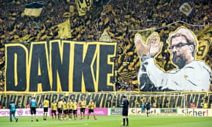 Borussia Dortmund's fans make their feelings for Jürgen Klopp known in his final home game in charge