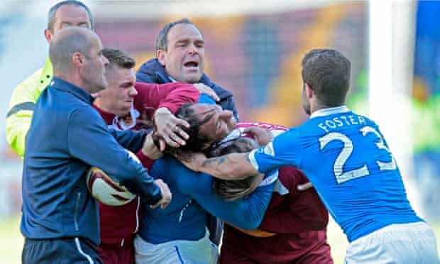 Motherwell's match against Rangers turns ugly after an incident involving Rangers' Bilel Mohsni