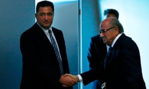 Domenico Scala, left, was put in charge of the Fifa reform process by Sepp Blatter