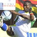 Zimbabwean striker Shigirai Kaondera in action against Gabon