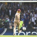 Fine finishing from a streaker at the 2002 Champions League final