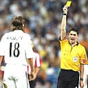 Jonathan Woodgate receives an early dose of Spanish discipline