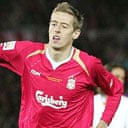 Peter Crouch celebrates scoring in the World Club Championship