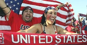 United States fans watch the win over Mexico
