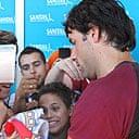 Ruud van Nistelrooy signs autographs in Madrid