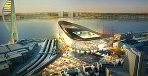 An artist's impression of the new Portsmouth ground