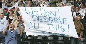 Leeds fans make their feelings known