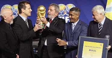 The jubilant Brazilian delegation
