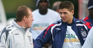 Steve McClaren and Steven Gerrard