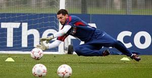 England goalkeeper Scott Carson.