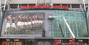 Old Trafford is prepared for the anniversary of the Munich aird disaster