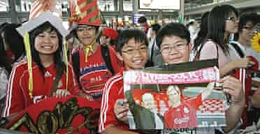 Fans in Hong Kong welcome Liverpool ahead of last season's Asia Trophy