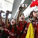 Liverpool fans in Hong Kong