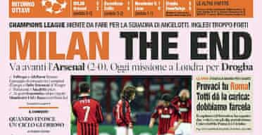 Gazzetta dello Sport's front page headline
