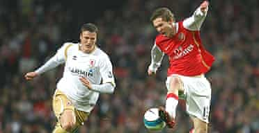 Alexander Hleb in action against Middlesbrough
