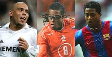 Ronaldo, Edgar Davids and Patrick Kluivert