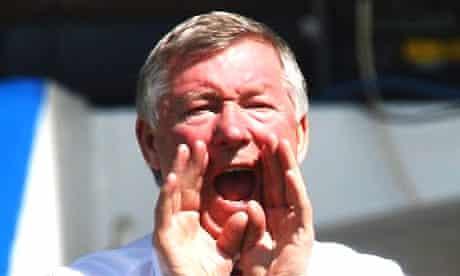 Alex Ferguson shouting