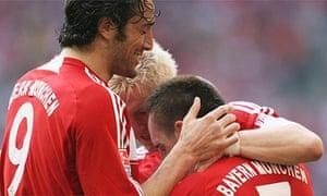 Luca Toni and Franck Ribéry