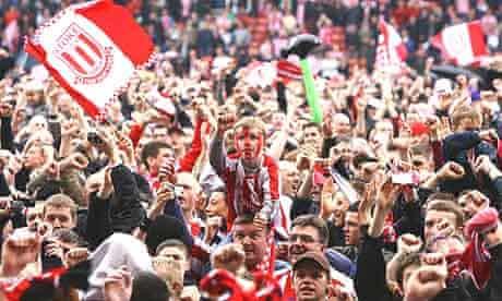 Stoke fans celebrate promotion