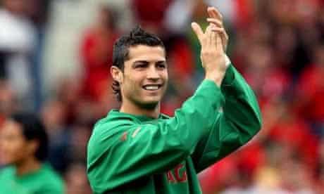 Team Portugal's Cristiano Ronaldo seen during today's training session at La Maladiere Stadium, Neuchatel, Switzerland