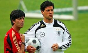 Joachim Loew and Michael Ballack