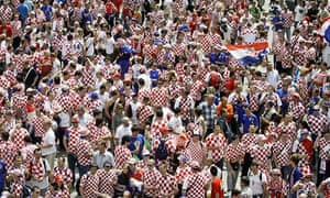 Croatian fan before the game against Austria