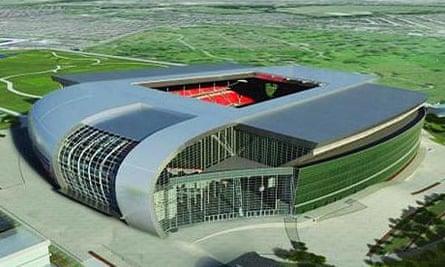 Artist's impression of the new Liverpool stadium