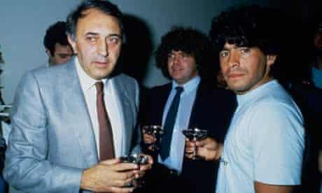 Diego Maradona signs for Napoli in June 1984