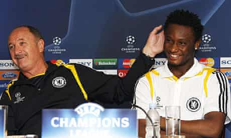 Luiz Felipe Scolari and Mikel Jon Obi