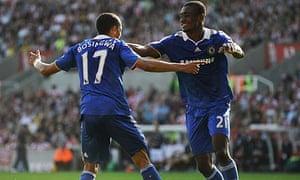 Jose Bosingwa and Salamon Kalou, Chelsea