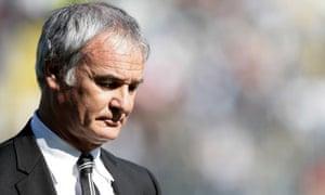 The Juventus manager Claudio Ranieri