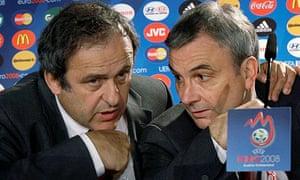 Michel Platini and David Taylor