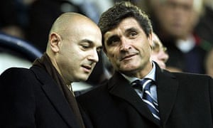 Tottenham chairman Daniel Levy and Juande Ramos