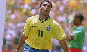 ae94b56a94c Romario celebrates scoring Brazil s first goal against Cameroon in the 1994  World Cup at Stanford. Photograph  Tony Marshall PA