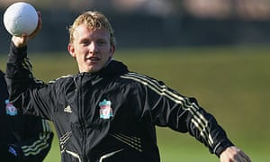 Dirk Kuyt prepares for Liverpool's Champions League match against Atletico Madrid