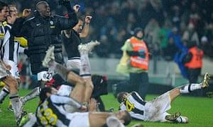 Alessandro Del Piero and his Juventus colleagues celebrate