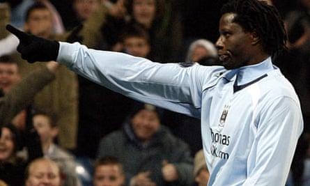 Manchester City forward Benjani Mwaruwari