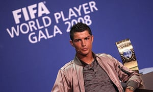 Cristiano Ronaldo of Manchester United has been named Fifa World Player of the Year for 2008