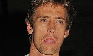 Peter Crouch leaves Movida on Saturday night.