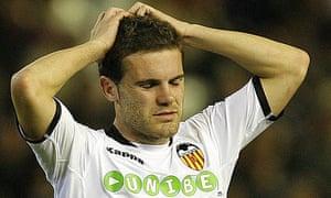 Valencia's midfielder Juan Mata