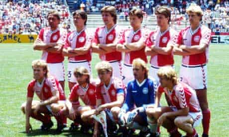 The Denmark team before their Mexico 86 match against West Germany